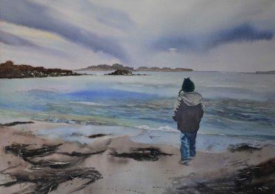 Ripton 3 Rabee Kiwan  Seaweed  Watercolor on Paper 19x27 copy