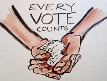 vote Tryon Nora  Every Vote Counts watercolor