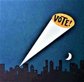 vote Harper Gregg Vote Beacon Cut Paper and Ink copy