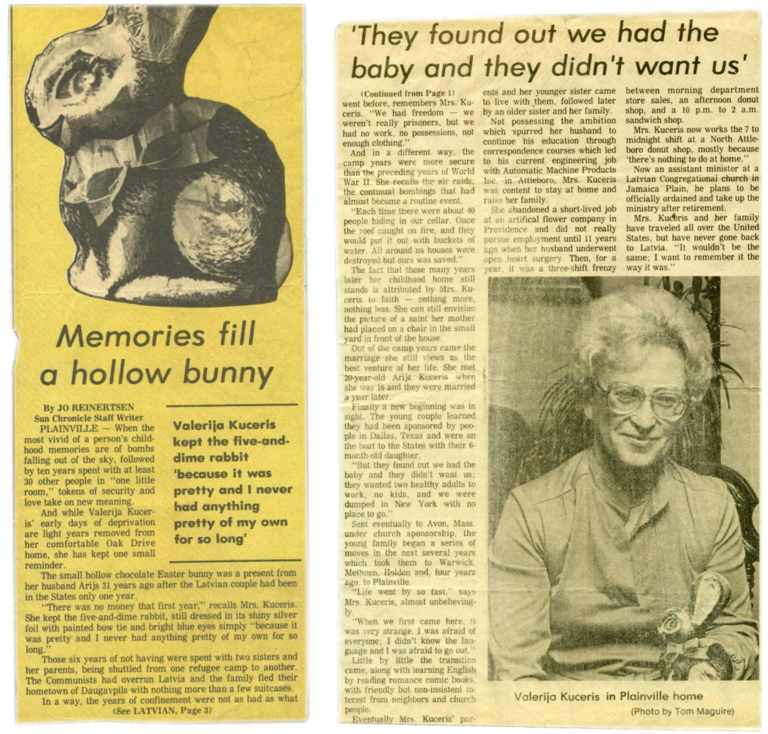"""Gray, """"Newspaper Clipping"""", scanned newspaper clipping, date unknown (approx. 1983)"""