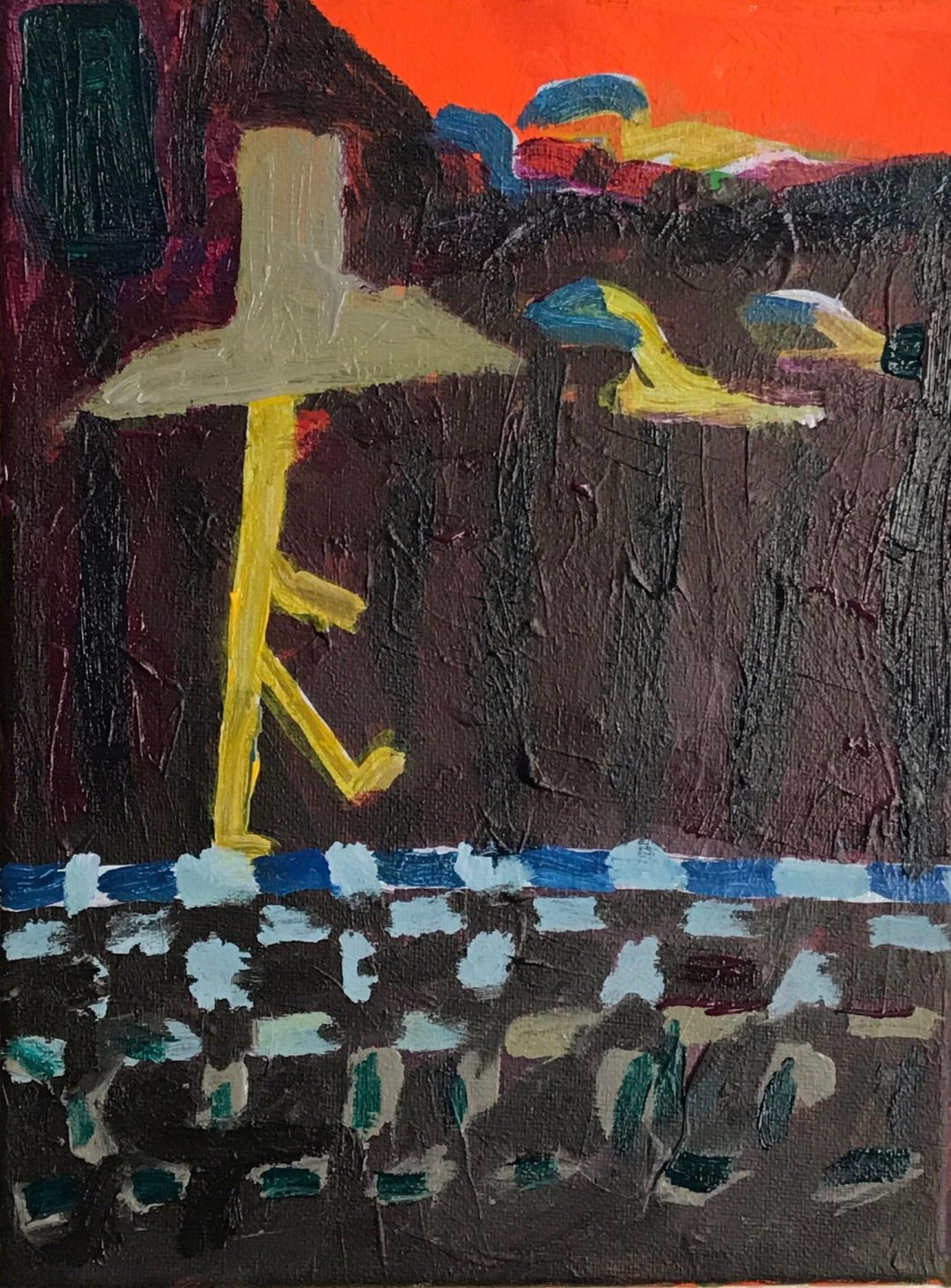 """Kenny Cole """"Checking In"""" on Andy Heck Boyd untitled 9x12 acrylic on canvas2 19 IMG 2128"""