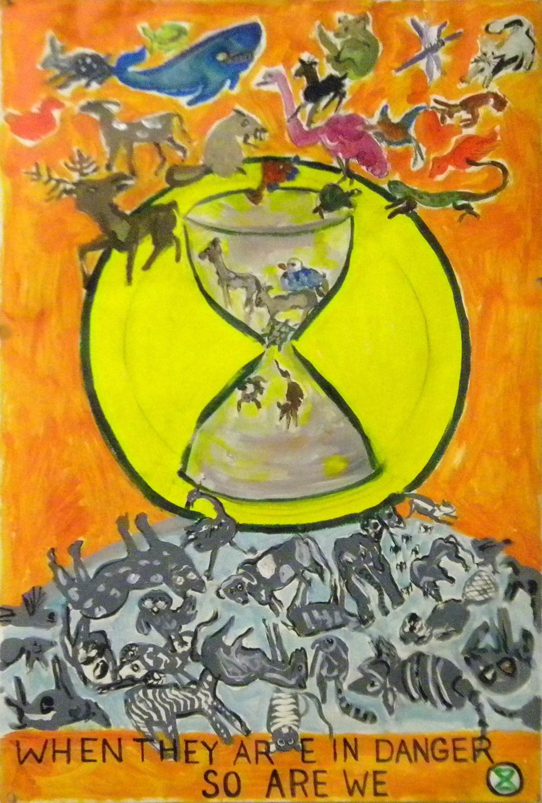 Extinction Rebellion Ad Box painting