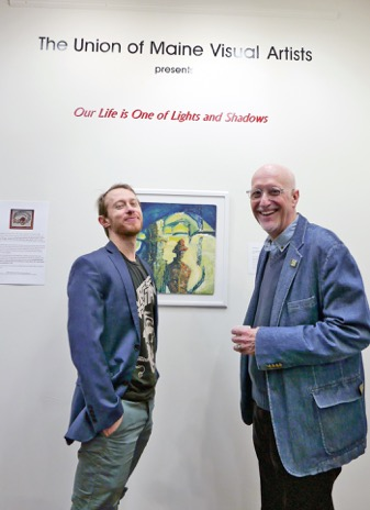 """UMVA Gallery opening of """"Our Life is One of Lights and Shadows, William Hessian and Gregg Harper; photo by David Wade"""