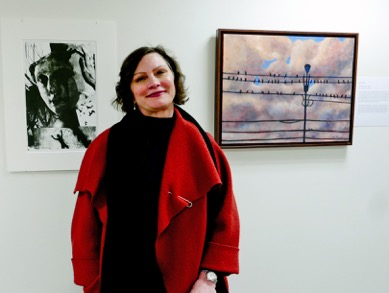 """UMVA Gallery opening of """"Our Life is One of Lights and Shadows, Janice Moore; photo by David Wade"""