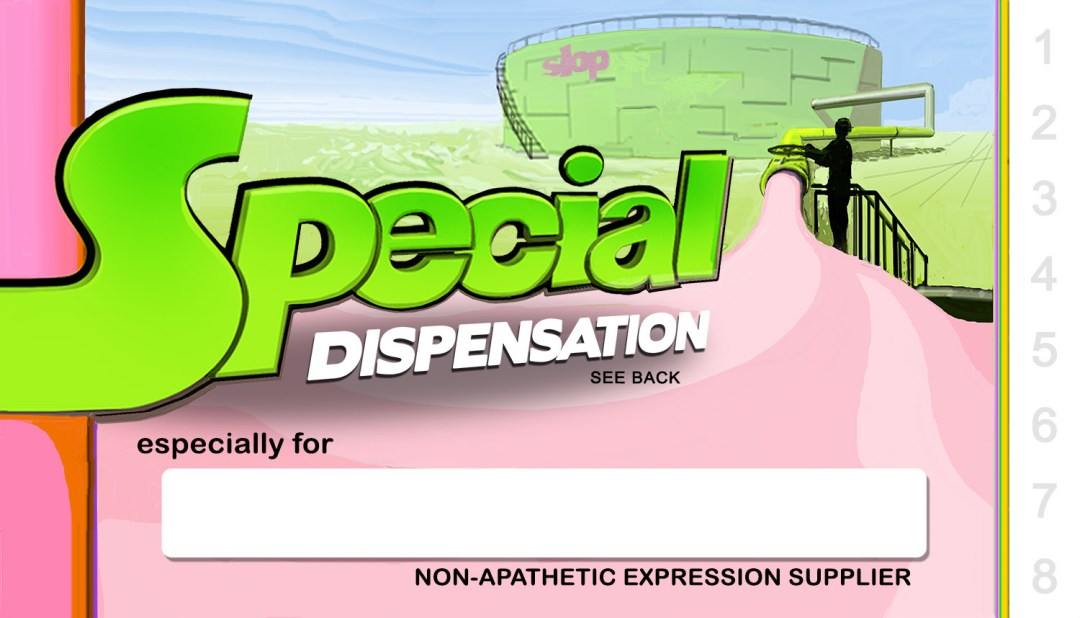 Brian Reeves, Special Dispensation Card (front), created for 2010 Drawathon in Bath)