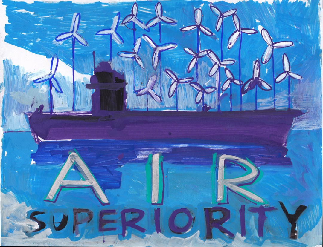 Brian Reeves, Air Superiority, made at Bring Our War $$ Home Draw-In.