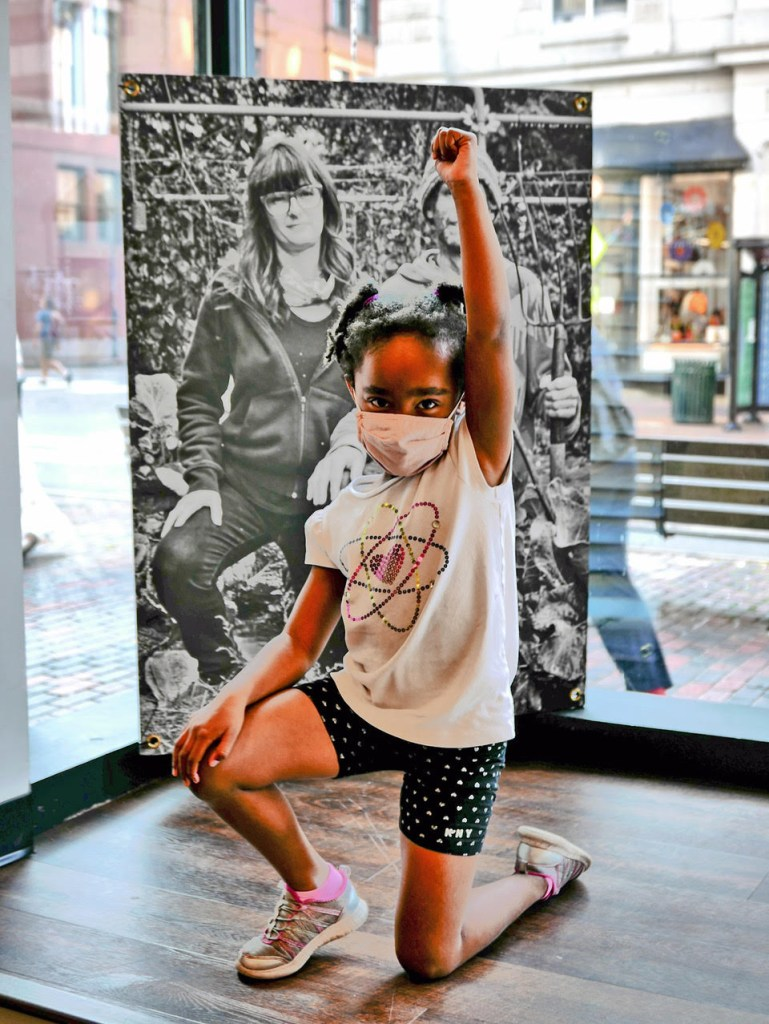 UMVA PORTLAND 5 shows young girl taking a knee during the show at UMVA Gallery @ PMC copy 1