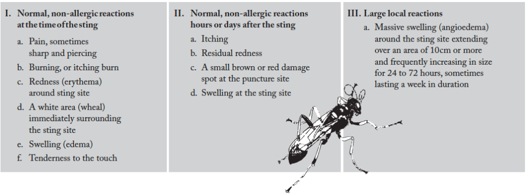 Normal vs. Allergic Reactions to Insect Stings from State Apiarist Tony Jadczak