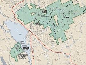 mt blue state park map