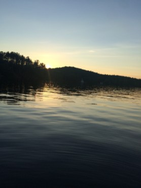 Beautiful evening on Sabattus Lake