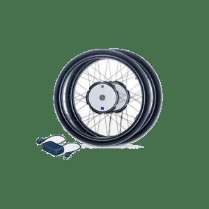 Power-assist wheels for wheelchair