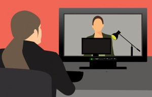 Person engaged in video conference