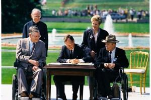President George HW Bush signs the ADA