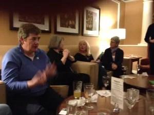 Committee member Brenda Buchanan in the bar