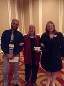 Guest of Honor Kathy Lynn Emerson (aka Kaitlyn Dunnett) with agent Christina Hogrebe and editor Peter Senftleben