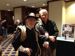 Jonathan Shapiro, dressed as an old west hanging judge, and the Hon. Michael Ponsor, author of The Hanging Judge