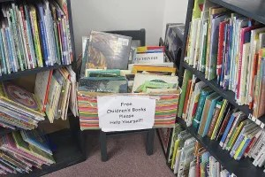 What child doesn't love a free book?