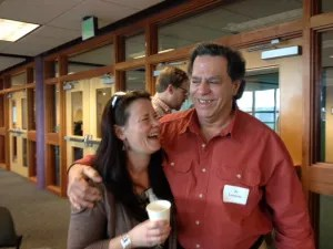 Al Lamanda and his editor, Tiffany Schofield from Five Star at the Crime Wave