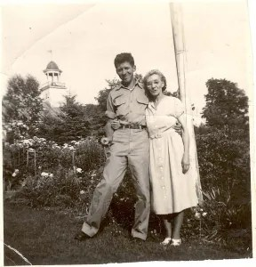 My father and my grandmother Della