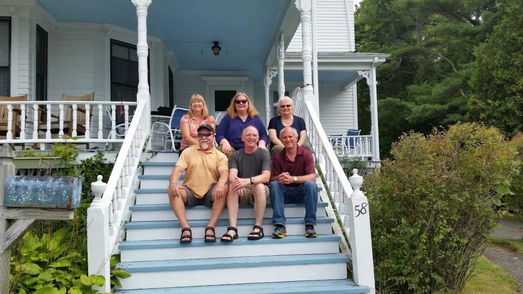 The cousins: Front row l-r: Bobby, Rip, Bill, Back row: Barbara Jean, Barb, Linda.