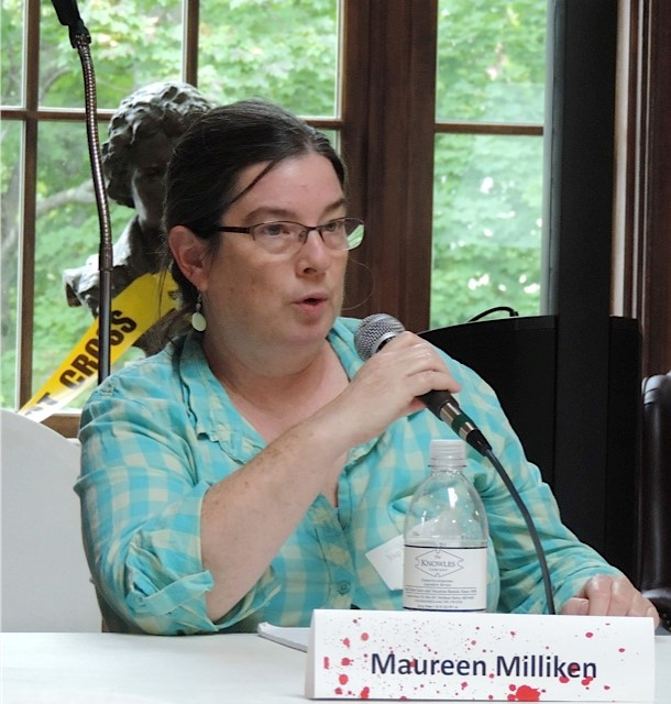 Maureen Milliken during the Real World vs. The Page panel discussion.