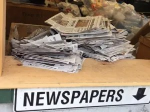 Newspapers, the biggest story in the world still finds it's way to the dump sooner or later.