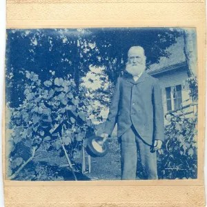 Great grandfather Horatio Clark who was one of many in the family who loved to garden and fish