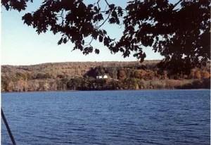 Sennebec Hill Farm from across the lake