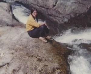 Sister Liz at Baxter in 1976.