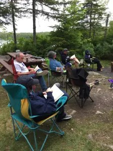 Baxter State Park has no wifi, phone service or electricity. Everyone slows down and enjoys.