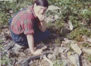 Me, eating blueberries fresh off the bush in 1976 at Baxter State Park.