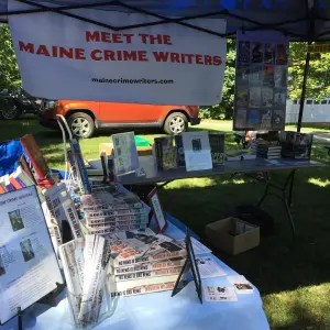 Meet the Maine Crime Writers booth at the Belgrade 4th of July.