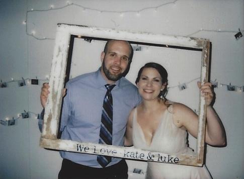 Briana and Nick at the reception.