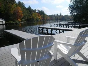 The public docks on Mill Stream are a great place to relax.