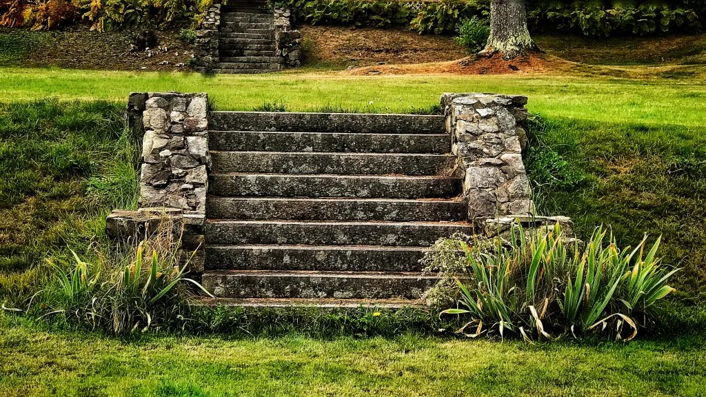 The garden steps at Farview, Mary Roberts Rinehart's estate