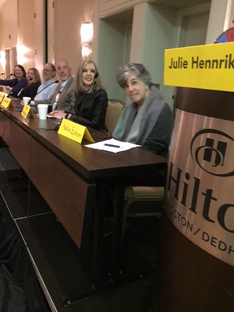 Authors of cozies, police procedurals and thrillers competed during a Wheel of Fortune inspired panel at the New England Crime Bake