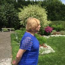 Governor Mills in her garden