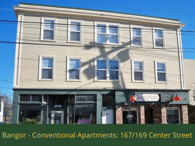 Bangor - Conventional Apartments - 167:169 Center Street: 4 two bedrooms