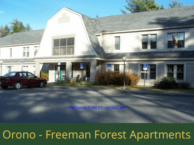 Orono - Freeman Forest Apartments: 22 units total – (17) 1 bedroom apartments, (1) 1 bedroom handicap accessible apartment, (3) 2 bedroom apartments, and (1) 2 bedroom handicap accessible apartments