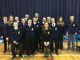 Draper at Easton High School FFA assembly