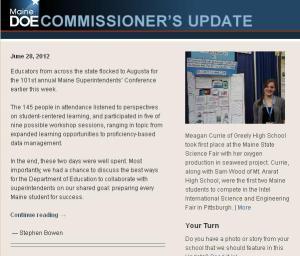 Commissioner's Update - June 28, 2012