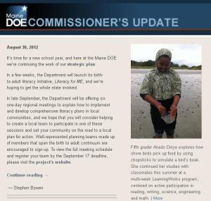Commissioner's Update - August 30, 2012