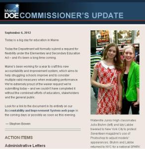 Commissioner's Update - September 6, 2012