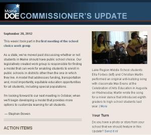 Commissioner's Update - September 20, 2012