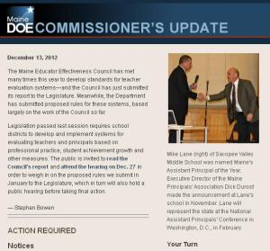 Commissioner's Update - Dec. 13, 2012