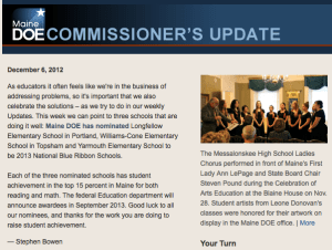 Commissioner's Update – December 6, 2012