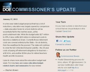 Commissioner's Update - January 17, 2013