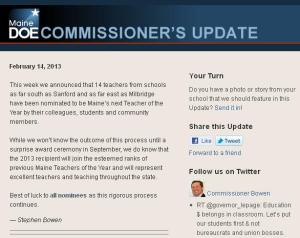 Commissioner's Update - Feb. 14, 2013