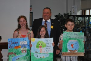 Governor LePage with Clean Water poster contest winners