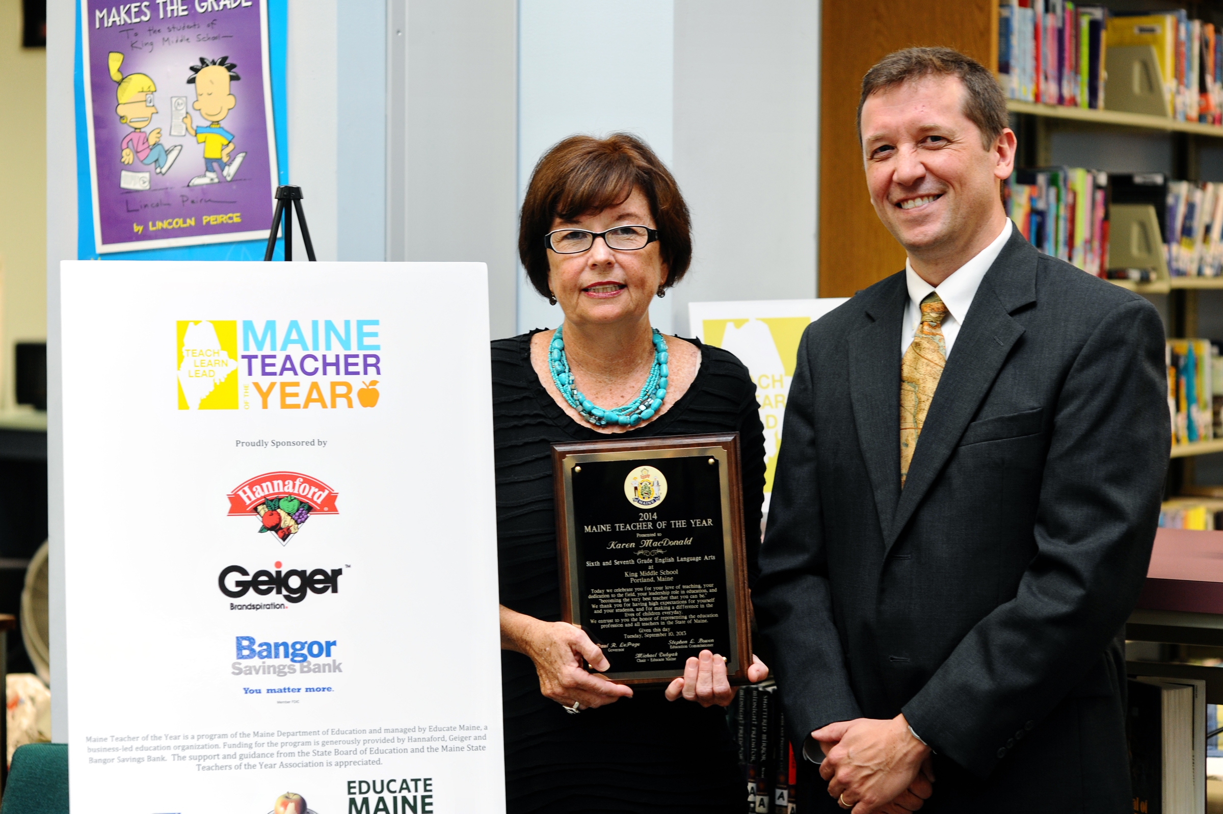 Portlands Karen Macdonald Named 2014 Maine Teacher Of The Year